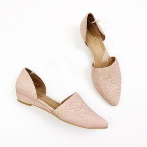 Sixty Seven Erin Bootie D'orsay Wedge Blush Snake